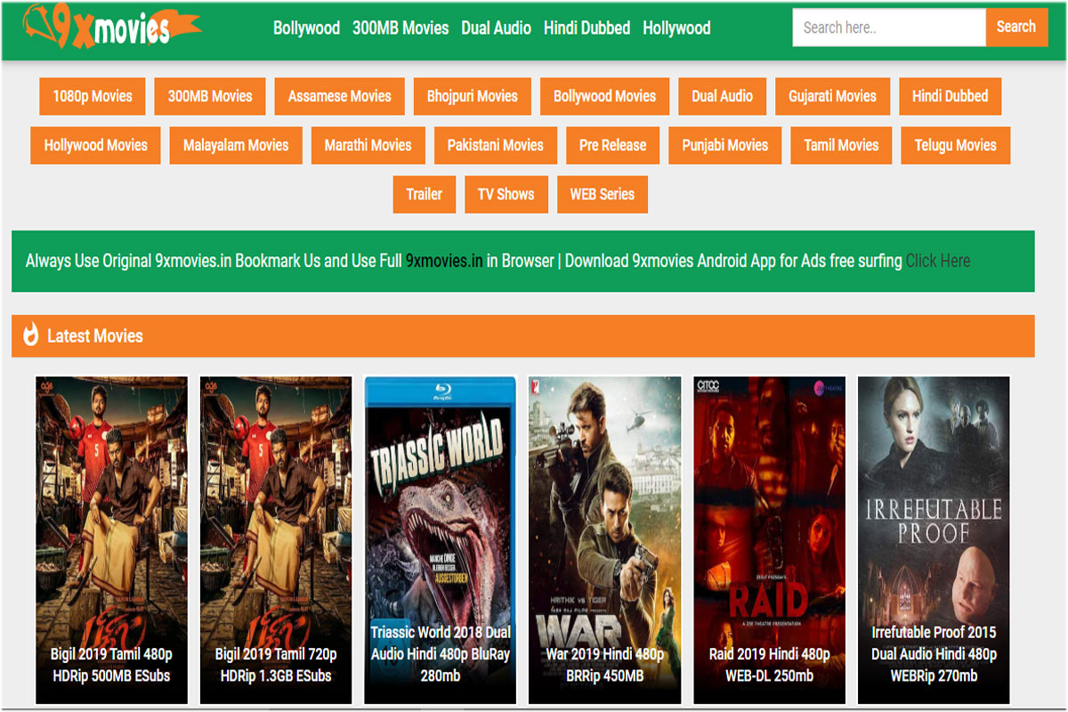 9xmovies download Bollywood Hollywood new movies