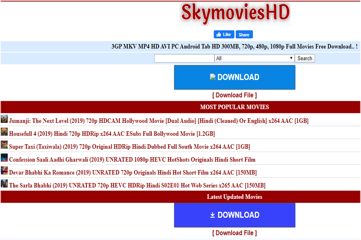 SkymoviesHD Download Hollywood Bollywood New Movies