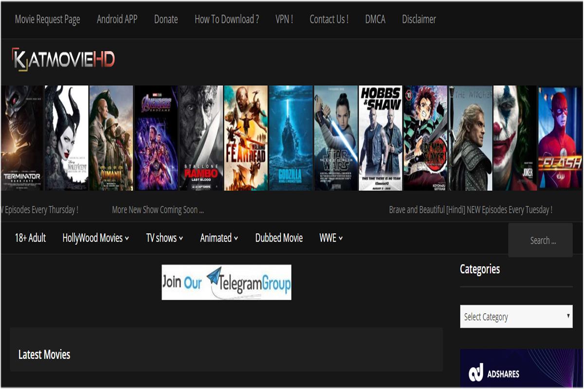 KatmovieHD download Hindi dubbed hollywood movies