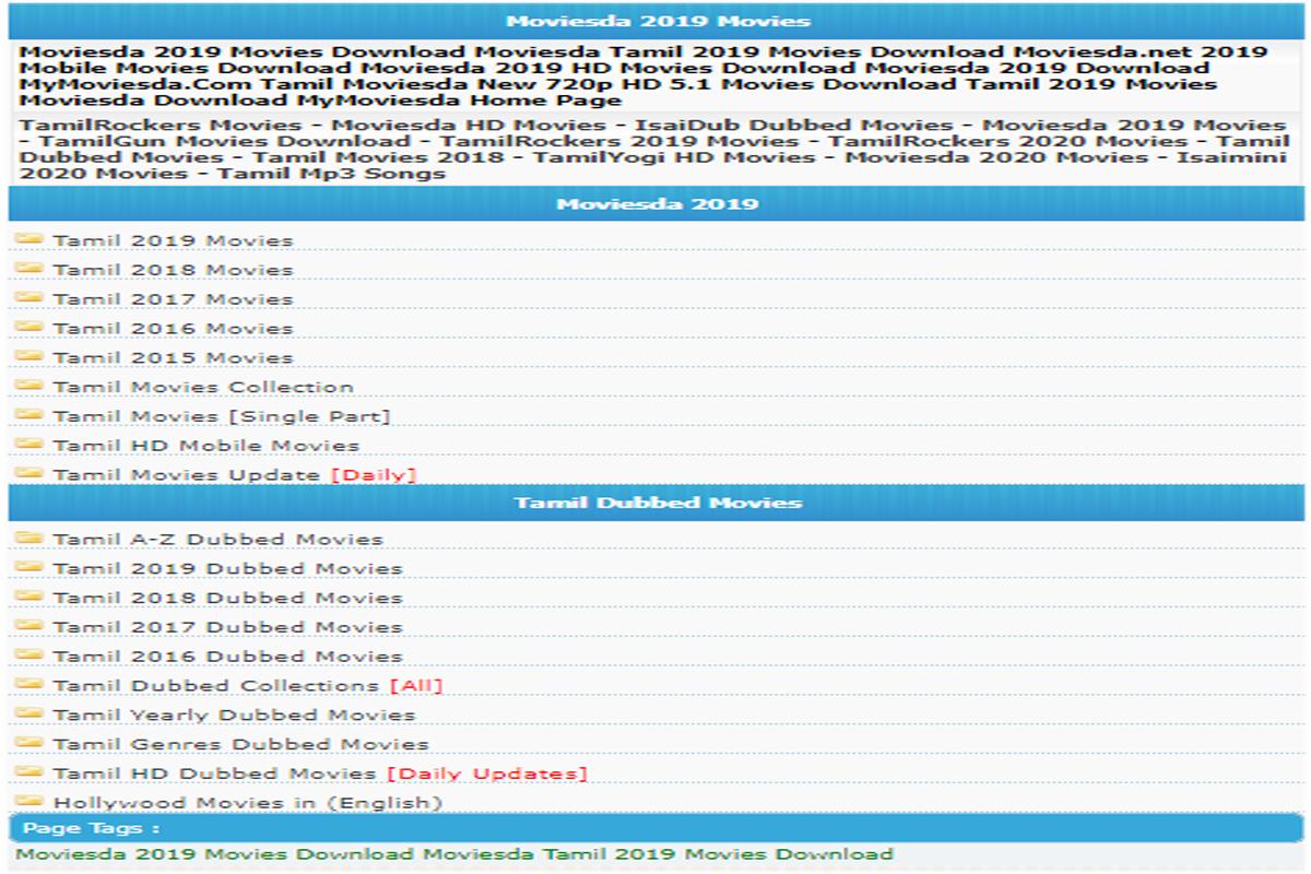 Moviesda 2020 New Tamil Movies Download