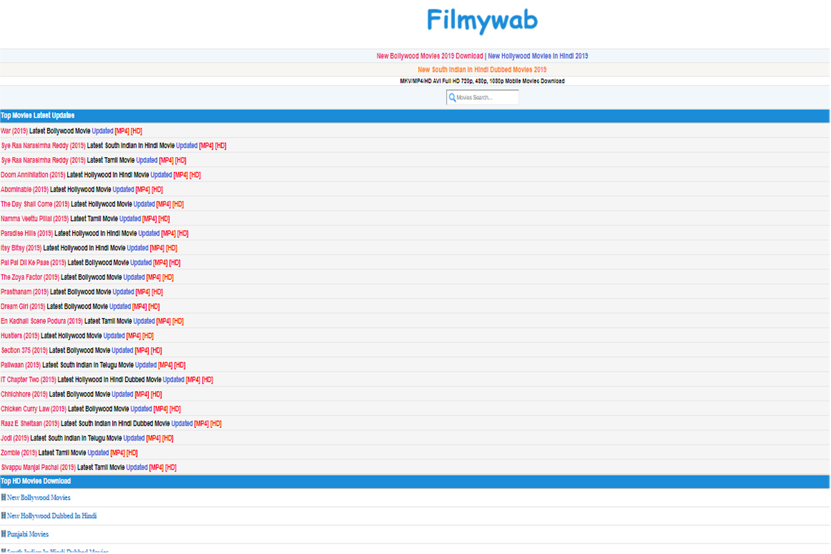 xfilmywap 2020 Download Bollywood New Movies