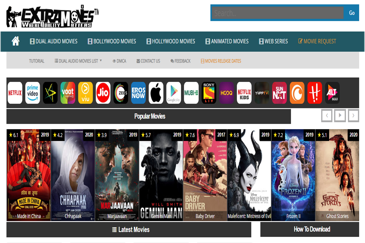 Extramovies 2020 Download Bollywood Hollywood Movies