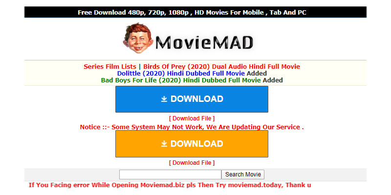 Moviemad 2020 Bollywood HD Movies Download